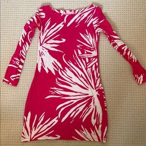 Lily Pulitzer Pink Long Sleeve Shift dress small